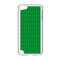 Pattern Green Background Lines Apple iPod Touch 5 Case (White)