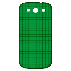 Pattern Green Background Lines Samsung Galaxy S3 S III Classic Hardshell Back Case