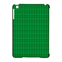 Pattern Green Background Lines Apple Ipad Mini Hardshell Case (compatible With Smart Cover) by Nexatart