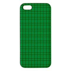 Pattern Green Background Lines Apple iPhone 5 Premium Hardshell Case