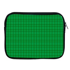 Pattern Green Background Lines Apple iPad 2/3/4 Zipper Cases