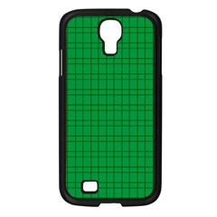 Pattern Green Background Lines Samsung Galaxy S4 I9500/ I9505 Case (Black)