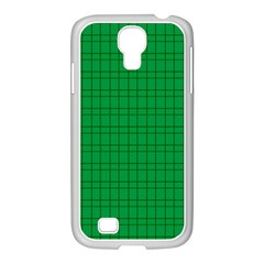 Pattern Green Background Lines Samsung GALAXY S4 I9500/ I9505 Case (White)