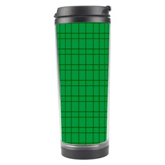 Pattern Green Background Lines Travel Tumbler