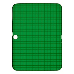 Pattern Green Background Lines Samsung Galaxy Tab 3 (10 1 ) P5200 Hardshell Case  by Nexatart