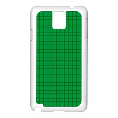 Pattern Green Background Lines Samsung Galaxy Note 3 N9005 Case (white)