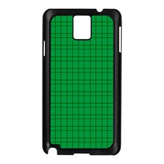 Pattern Green Background Lines Samsung Galaxy Note 3 N9005 Case (Black)