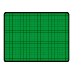 Pattern Green Background Lines Double Sided Fleece Blanket (Small)