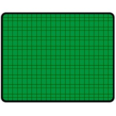 Pattern Green Background Lines Double Sided Fleece Blanket (medium)
