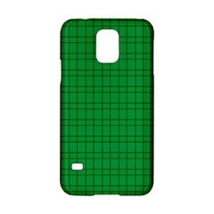 Pattern Green Background Lines Samsung Galaxy S5 Hardshell Case