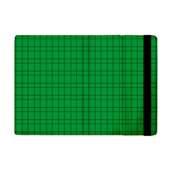 Pattern Green Background Lines iPad Mini 2 Flip Cases