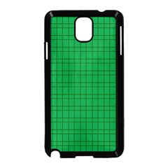 Pattern Green Background Lines Samsung Galaxy Note 3 Neo Hardshell Case (Black)