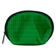 Pattern Green Background Lines Accessory Pouches (Medium)