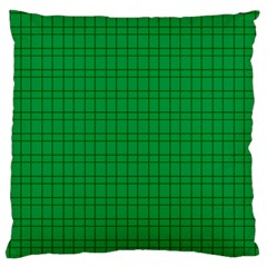 Pattern Green Background Lines Large Flano Cushion Case (Two Sides)