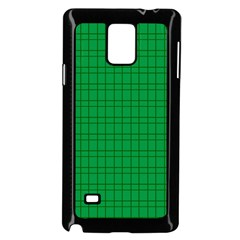 Pattern Green Background Lines Samsung Galaxy Note 4 Case (Black)