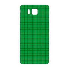 Pattern Green Background Lines Samsung Galaxy Alpha Hardshell Back Case by Nexatart