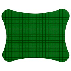 Pattern Green Background Lines Jigsaw Puzzle Photo Stand (Bow)