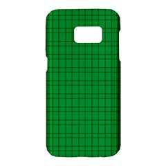 Pattern Green Background Lines Samsung Galaxy S7 Hardshell Case