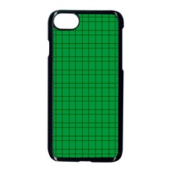 Pattern Green Background Lines Apple iPhone 7 Seamless Case (Black)