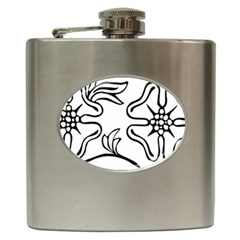 Decoration Pattern Design Flower Hip Flask (6 Oz) by Nexatart