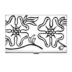 Decoration Pattern Design Flower Business Card Holders by Nexatart