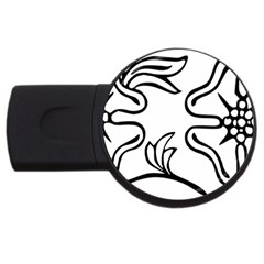 Decoration Pattern Design Flower Usb Flash Drive Round (4 Gb) by Nexatart
