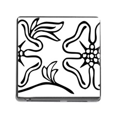Decoration Pattern Design Flower Memory Card Reader (square) by Nexatart