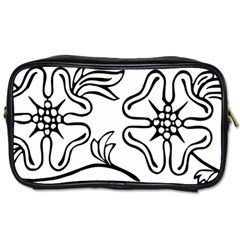 Decoration Pattern Design Flower Toiletries Bags 2 Side