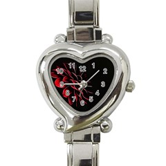 Pattern Design Abstract Background Heart Italian Charm Watch by Nexatart