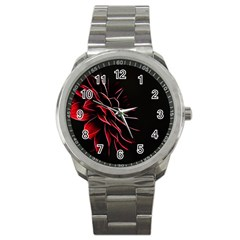 Pattern Design Abstract Background Sport Metal Watch