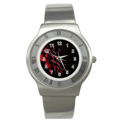 Pattern Design Abstract Background Stainless Steel Watch by Nexatart