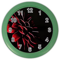 Pattern Design Abstract Background Color Wall Clocks by Nexatart