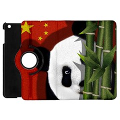 Panda Apple Ipad Mini Flip 360 Case by Valentinaart