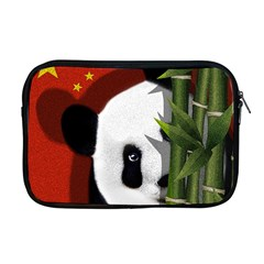Panda Apple Macbook Pro 17  Zipper Case by Valentinaart