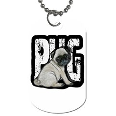 Pug Dog Tag (one Side) by Valentinaart