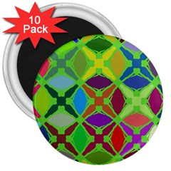 Abstract Pattern Background Design 3  Magnets (10 Pack)  by Nexatart