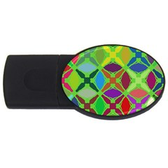 Abstract Pattern Background Design Usb Flash Drive Oval (2 Gb) by Nexatart