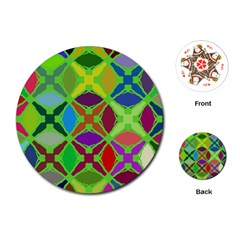 Abstract Pattern Background Design Playing Cards (round)  by Nexatart