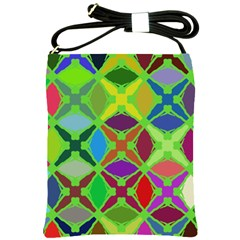 Abstract Pattern Background Design Shoulder Sling Bags by Nexatart