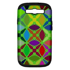Abstract Pattern Background Design Samsung Galaxy S Iii Hardshell Case (pc+silicone) by Nexatart