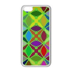 Abstract Pattern Background Design Apple Iphone 5c Seamless Case (white) by Nexatart