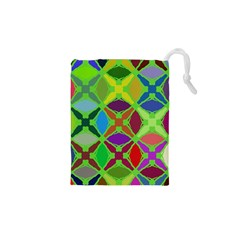 Abstract Pattern Background Design Drawstring Pouches (xs)  by Nexatart