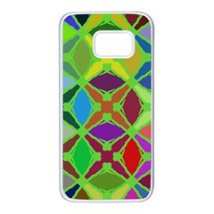 Abstract Pattern Background Design Samsung Galaxy S7 White Seamless Case by Nexatart