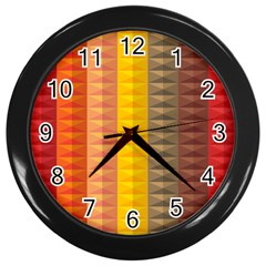 Abstract Pattern Background Wall Clocks (black) by Nexatart
