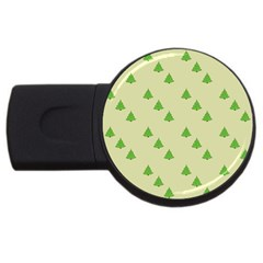Christmas Wrapping Paper Pattern Usb Flash Drive Round (2 Gb) by Nexatart