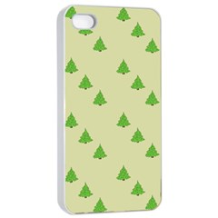 Christmas Wrapping Paper Pattern Apple Iphone 4/4s Seamless Case (white)