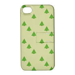 Christmas Wrapping Paper Pattern Apple Iphone 4/4s Hardshell Case With Stand