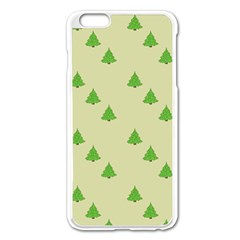 Christmas Wrapping Paper Pattern Apple Iphone 6 Plus/6s Plus Enamel White Case by Nexatart