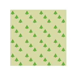 Christmas Wrapping Paper Pattern Small Satin Scarf (square)