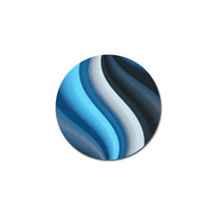 Abstract Pattern Lines Wave Golf Ball Marker by Nexatart